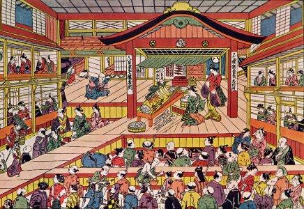 Une représentation de Kabuki du XVIIIe. siècle.