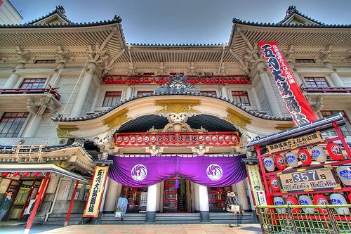 Le théâtre Kabuki-za à Ginza, Tokyo.