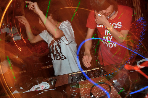 DJs in the Shibuya's Trump Room nightclub