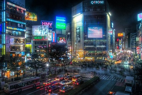 Shibuya and the famous 'Scramble Crossing'