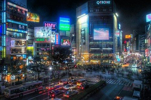 Shibuya et ses fameux carrefours surpeuplés.